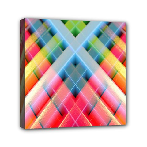 Graphics Colorful Colors Wallpaper Graphic Design Mini Canvas 6  X 6  by Amaryn4rt
