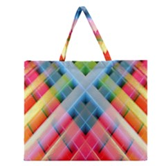 Graphics Colorful Colors Wallpaper Graphic Design Zipper Large Tote Bag