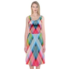 Graphics Colorful Colors Wallpaper Graphic Design Midi Sleeveless Dress by Amaryn4rt