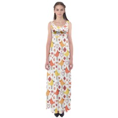 Animal Pattern Happy Birds Seamless Pattern Empire Waist Maxi Dress