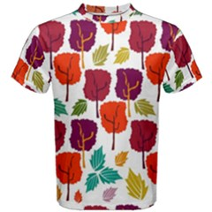 Tree Pattern Background Men s Cotton Tee