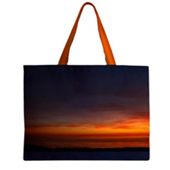 Dark Sunset Zipper Large Tote Bag by SusanFranzblau