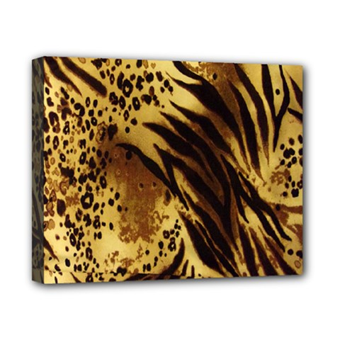 Stripes Tiger Pattern Safari Animal Print Canvas 10  X 8  by Amaryn4rt