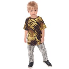 Stripes Tiger Pattern Safari Animal Print Kids  Raglan Tee