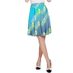 Animal Nature Cartoon Wild Wildlife Wild Life A Line Skirt by Amaryn4rt