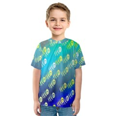Animal Nature Cartoon Wild Wildlife Wild Life Kids  Sport Mesh Tee by Amaryn4rt
