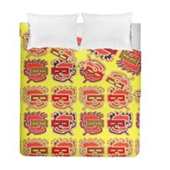 Funny Faces Duvet Cover Double Side (full/ Double Size) by Amaryn4rt