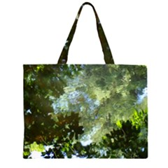 Ripples In Water  Zipper Large Tote Bag by SusanFranzblau
