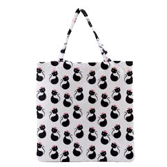 Cat Seamless Animal Pattern Grocery Tote Bag by Amaryn4rt