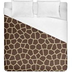 Leather Giraffe Skin Animals Brown Duvet Cover (king Size)