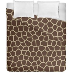 Leather Giraffe Skin Animals Brown Duvet Cover Double Side (california King Size)