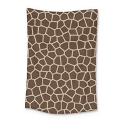 Leather Giraffe Skin Animals Brown Small Tapestry by Alisyart