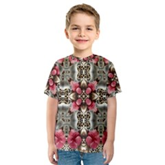 Flowers Fabric Kids  Sport Mesh Tee by Amaryn4rt