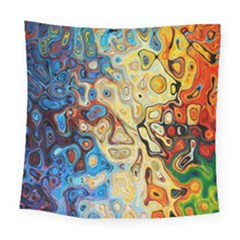 Background Structure Absstrakt Color Texture Square Tapestry (large)