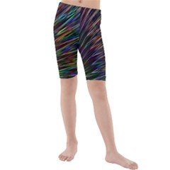 Texture Colorful Abstract Pattern Kids  Mid Length Swim Shorts by Amaryn4rt