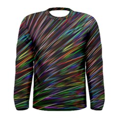 Texture Colorful Abstract Pattern Men s Long Sleeve Tee by Amaryn4rt