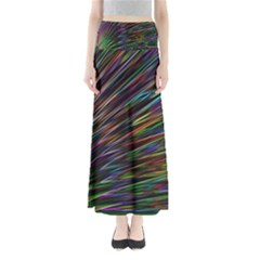 Texture Colorful Abstract Pattern Maxi Skirts by Amaryn4rt