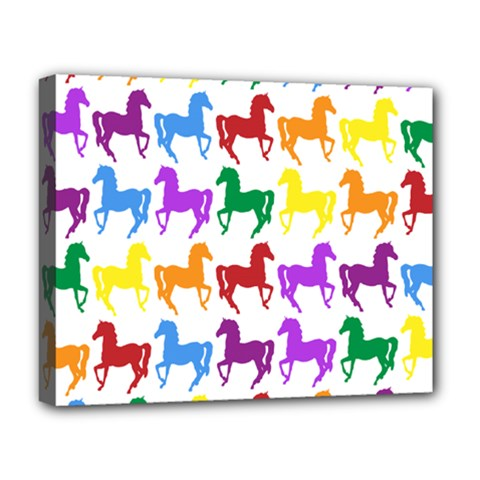 Colorful Horse Background Wallpaper Deluxe Canvas 20  X 16