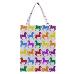 Colorful Horse Background Wallpaper Classic Tote Bag