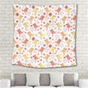 Animal Pattern Happy Birds Seamless Pattern Square Tapestry (Large) View2