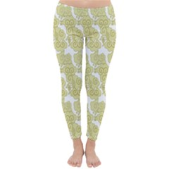 Waves Flower Classic Winter Leggings