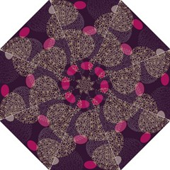 Twig Surface Design Purple Pink Gold Circle Straight Umbrellas