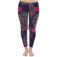 Twig Surface Design Purple Pink Gold Circle Classic Winter Leggings