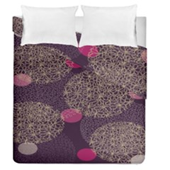 Twig Surface Design Purple Pink Gold Circle Duvet Cover Double Side (queen Size)
