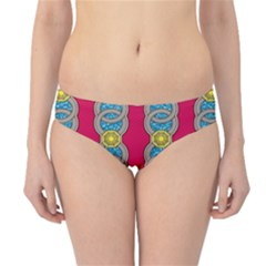 African Fabric Iron Chains Red Yellow Blue Grey Hipster Bikini Bottoms by Alisyart