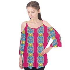 African Fabric Iron Chains Red Yellow Blue Grey Flutter Tees by Alisyart