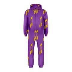 Eighth Note Music Tone Yellow Purple Hooded Jumpsuit (kids) by Alisyart