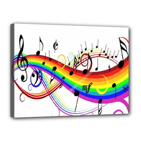 Color Music Notes Canvas 16  X 12  by Alisyart