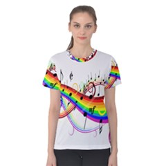 Color Music Notes Women s Cotton Tee
