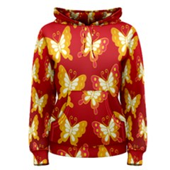 Butterfly Gold Red Yellow Animals Fly Women s Pullover Hoodie