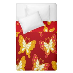 Butterfly Gold Red Yellow Animals Fly Duvet Cover Double Side (single Size)