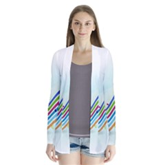 Color Musical Note Waves Cardigans