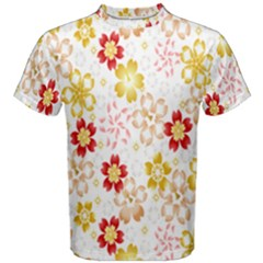 Flower Arrangements Season Rose Gold Men s Cotton Tee
