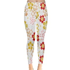 Flower Arrangements Season Rose Gold Classic Winter Leggings