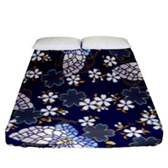 Butterfly Iron Chains Blue Purple Animals White Fly Floral Flower Fitted Sheet (king Size) by Alisyart