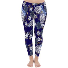 Butterfly Iron Chains Blue Purple Animals White Fly Floral Flower Classic Winter Leggings
