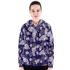 Butterfly Iron Chains Blue Purple Animals White Fly Floral Flower Women s Zipper Hoodie