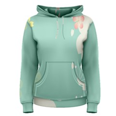 Flower Blue Pink Yellow Women s Pullover Hoodie