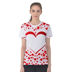 Love Red Hearth Women s Cotton Tee by Amaryn4rt