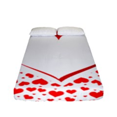 Love Red Hearth Fitted Sheet (full/ Double Size) by Amaryn4rt