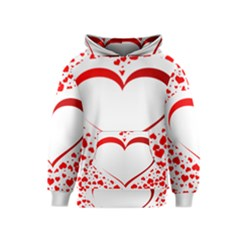 Love Red Hearth Kids  Pullover Hoodie by Amaryn4rt
