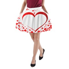 Love Red Hearth A Line Pocket Skirt by Amaryn4rt