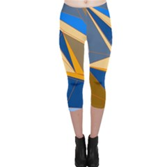 Abstract Background Pattern Capri Leggings