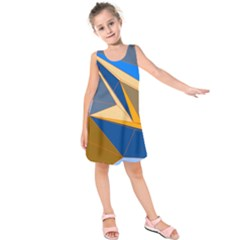 Abstract Background Pattern Kids  Sleeveless Dress by Amaryn4rt