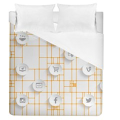 Icon Media Social Network Duvet Cover (queen Size)