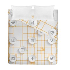 Icon Media Social Network Duvet Cover Double Side (full/ Double Size)